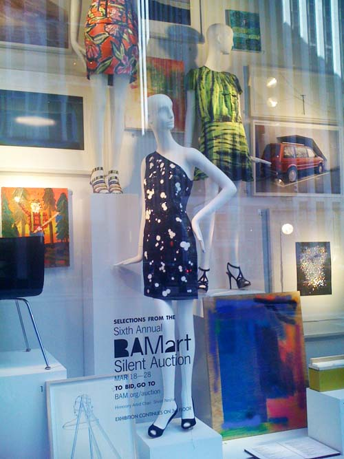 In Art Auction Selections for fundraising for the Brooklyn Acadmey of Music, BG supports BAM