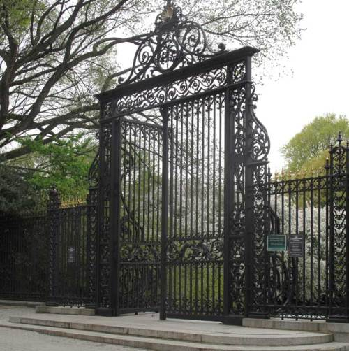 Amazing Gates Announce the Grand Garden Pleasures Awaiting Within....