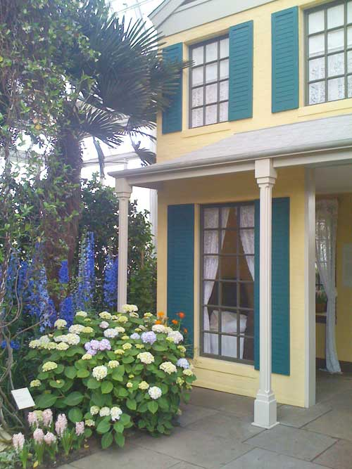 Emily Dickinson's House Facade.....in this Beautful House and Garden Tour!